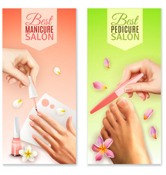 Pedicure and manicure banners vector