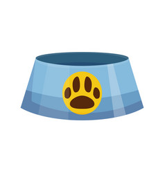 pet shop icon dog plate pet accessory vector image