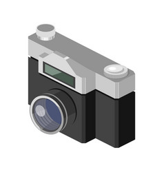 Photo camera isometric vector