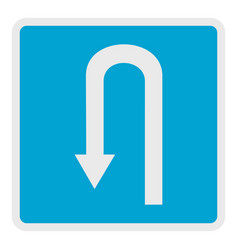 Place for reversal icon flat style vector