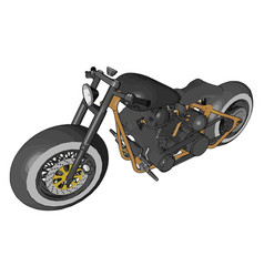 Powerful motorcycle or color vector