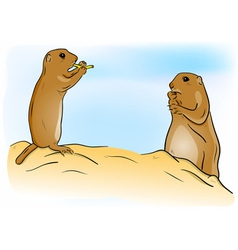 prairie dogs vector image