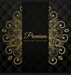Premium ornamanetal mandala design background vector