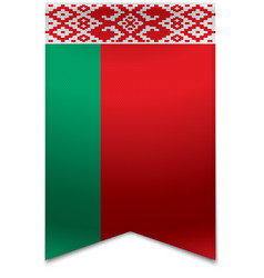 Ribbon banner - belarusian flag vector