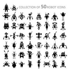 Robot icons vector