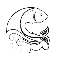 Sea fish icon vector
