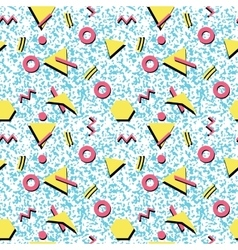 Seamless abstract pattern fashion 80-90s vector image