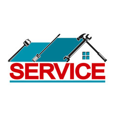 service house vector image