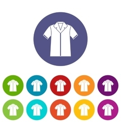 Shirt polo set icons vector image