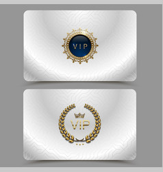 Silver metallic vip card presentation vip vector