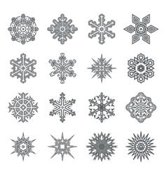 Snowflakes geometric abstract geometry Cristmas vector