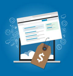 Software pricing online advertising service web vector
