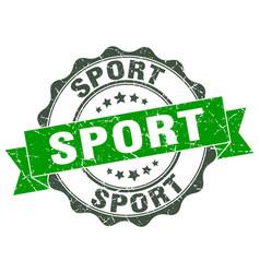 Sport stamp sign seal vector