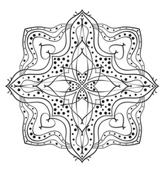 square ornamental mandala with rhombus in middle vector image