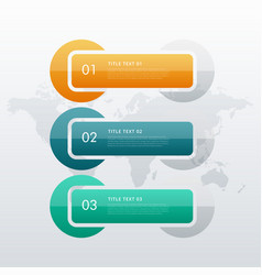 three steps option infographic template for your vector image