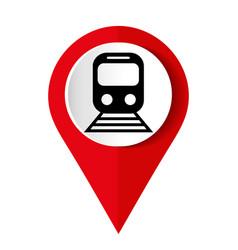train red icon flat design internet button web vector image