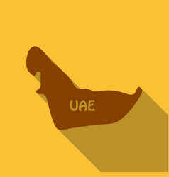 Uae map in flat style with shadow vector