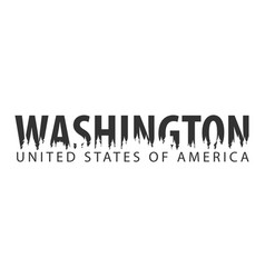 Washington usa united states of america text or vector