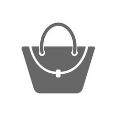 Woman bag icon female handbag sign symbol vector