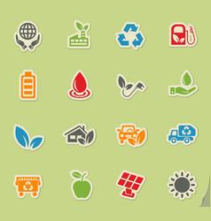 alternative energy icon set vector image