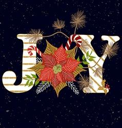 Joy composition vector image vector image