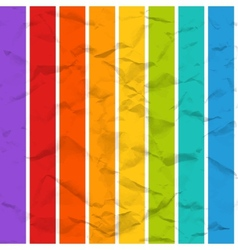 Rainbow crumpled paper seamless pattern vector
