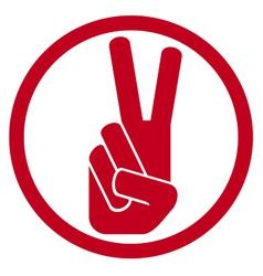 victory symbol vector image vector image