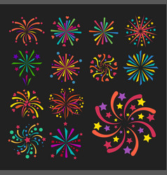 firework icon isolated vector image