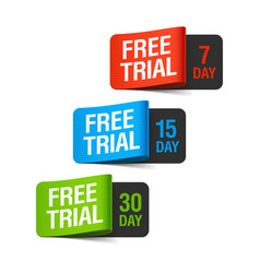 Free Trial labels vector image