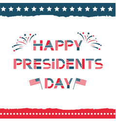 happy presidents day label vector image