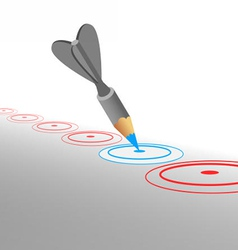 hit marketing goals vector image vector image