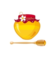 Honey Breakfast Food Element Isolated Icon vector image vector image