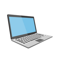 Laptop flat detailed icon vector