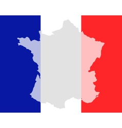 Map and flag of France vector image vector image