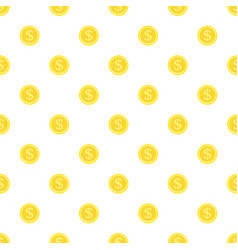 Seamless background gold coins vector