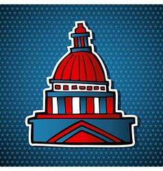 USA elections capitol building sketch icon vector image