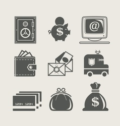 banking and finance set icon vector image vector image