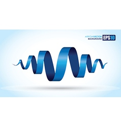 blue spiral vector image vector image