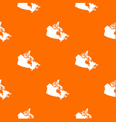 canada map pattern seamless vector image vector image