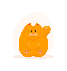 cute fatty ginger cat vector image vector image