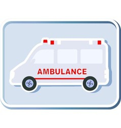 icon with isolated ambulance vector image vector image
