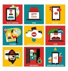 Popular internet activity flat icon vector image