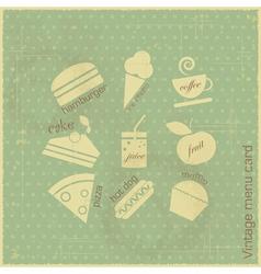 retro menu card vector image vector image