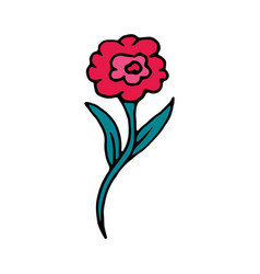rose flower cartoon icon vector image vector image