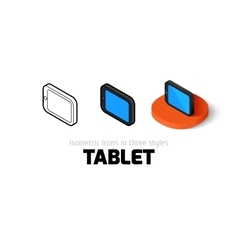 Tablet icon in different style vector image vector image