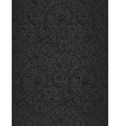 Black seamless wallpaper pattern vector image vector image