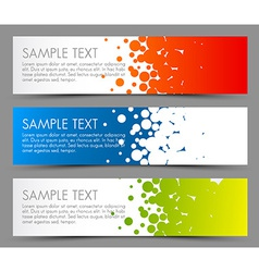 Simple colorful horizontal banners - with circle vector image vector image