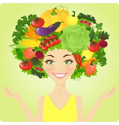 Vegetable woman vector image vector image