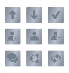 01 steel square chat icons vector image
