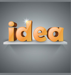 3d idea icon on the shelf vector image